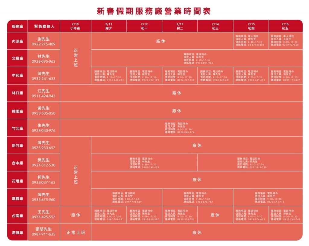 AC-新年服務廠營業公告NNNN